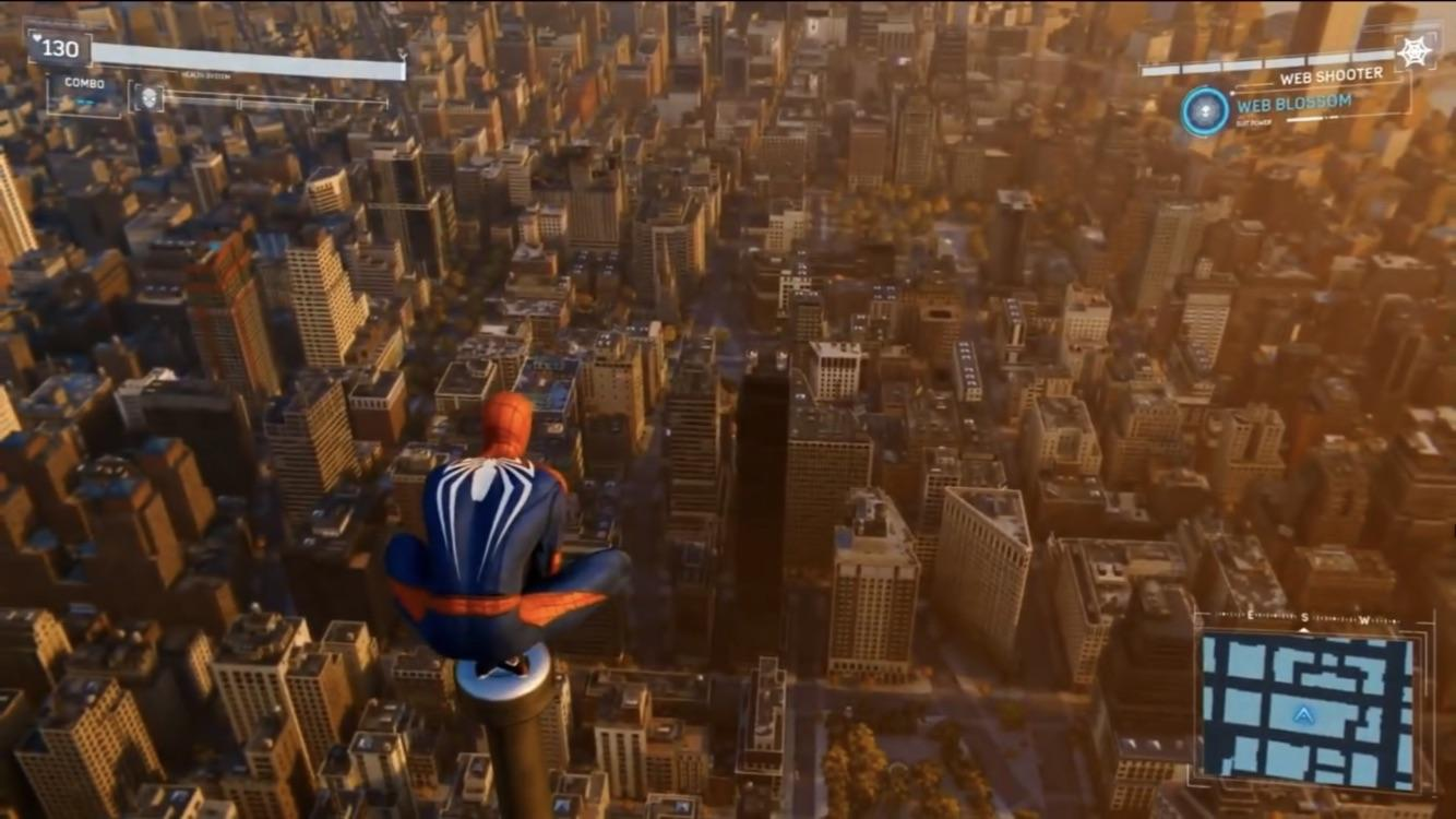 Spider-Man looks out into the city!
